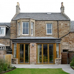 Complete refurbishment of dwelling including sensitive rear extension at property in Elie